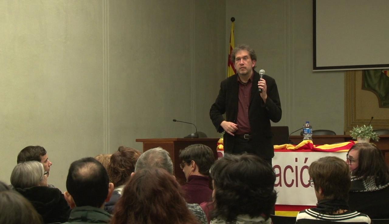 """Joan-Lluís Lluís protagonitza una xerrada en el marc del programa """"Autors a les aules"""""""