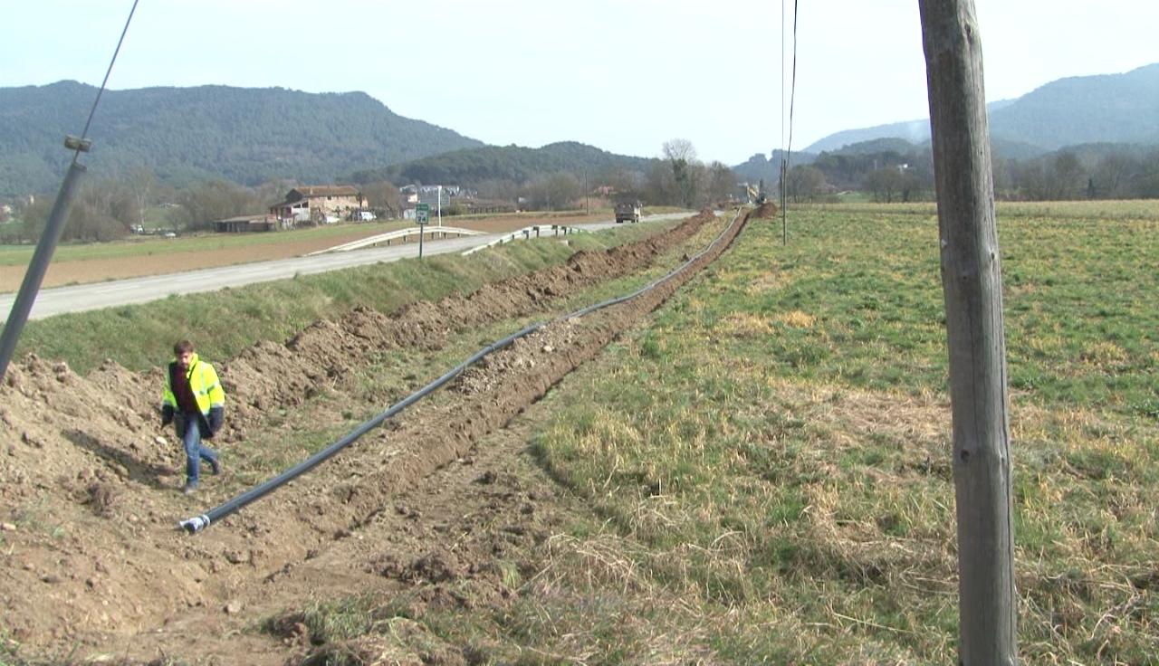 En marxa la construcció de la xarxa d'aigua a Sant Miquel de Campmajor