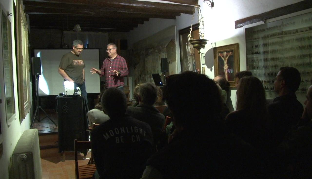 El president de l'Associació Astronòmica de Girona, Rafel Balaguer, tanca el cicle d'activitats culturals del Taller Joan de Palau