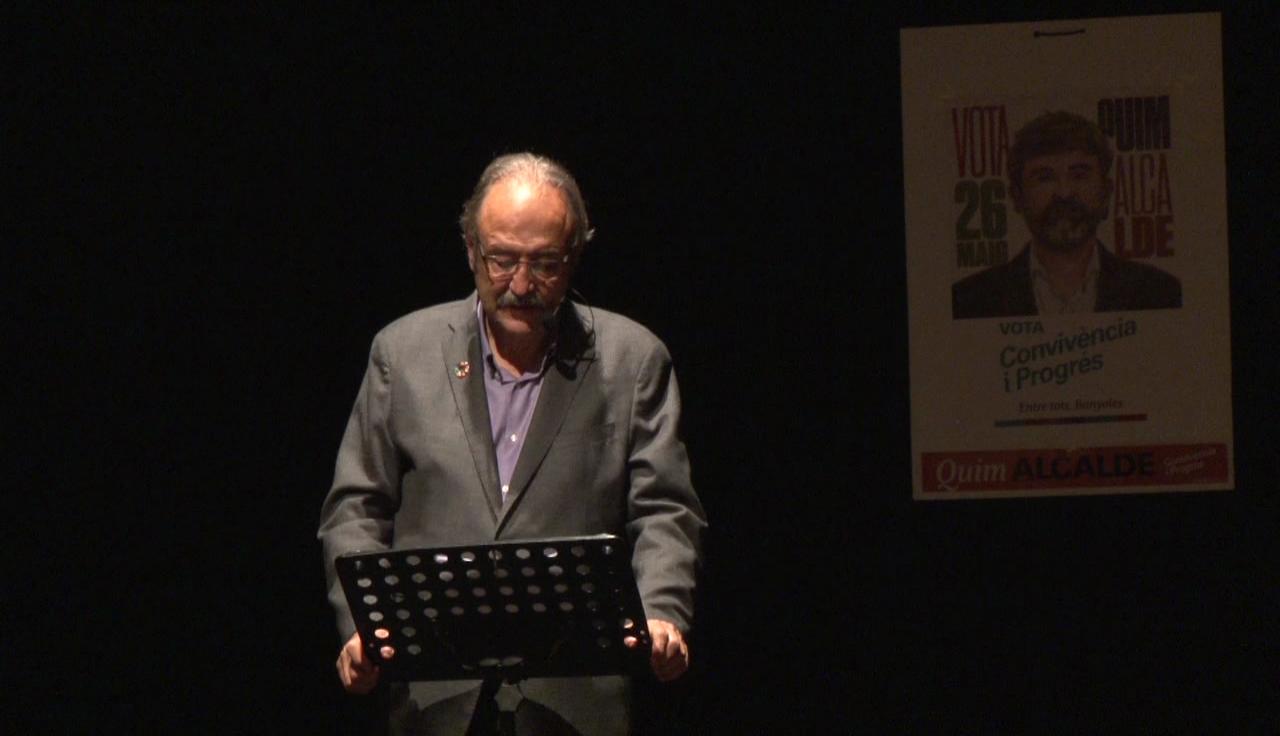 Convivència i Progrés presenta un vídeo durant l'acte central de campanya electoral