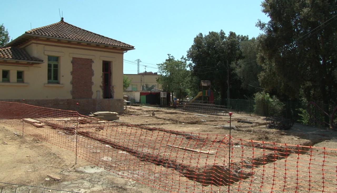 En marxa les obres d'ampliació de l'escola de Sant Esteve de Guialbes