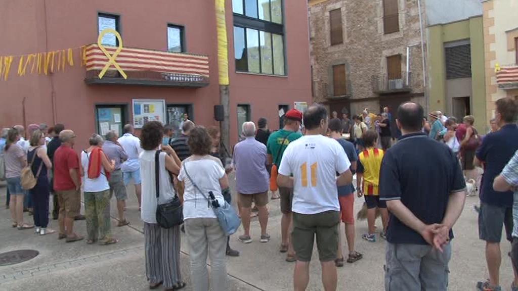 Cornellà del Terri commemora els 9 mesos de l'empresonament dels Jordis